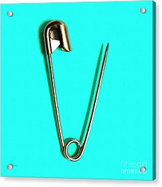 Safety Pin Pop Art 20161112-p135 Acrylic Print by Wingsdomain Art and Photography