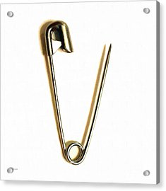 Safety Pin Pop Art 20161112-white Acrylic Print by Wingsdomain Art and Photography