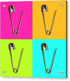 Safety Pin Pop Art Four 20161112 Acrylic Print by Wingsdomain Art and Photography