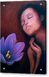 Saffron Acrylic Print by Patricia  Dees