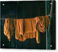 Saffron Robes Acrylic Print
