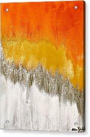 Saffron Sunrise Acrylic Print