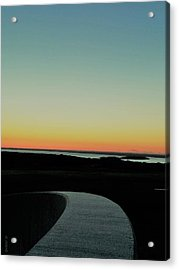 Acrylic Print featuring the photograph Sag Harbor Sunset 3 In Black And White by Rob Hans