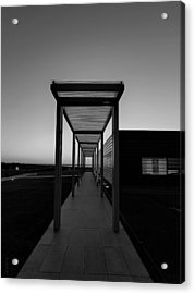 Acrylic Print featuring the photograph Sag Harbor Sunset In Black And White by Rob Hans