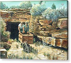 Sage Mine Acrylic Print by Lee Bowerman