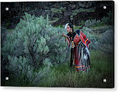 Sage Woman Acrylic Print by Christian Heeb