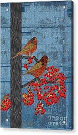 Acrylic Print featuring the digital art Sagebrush Sparrow Long by Kim Prowse