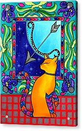Sagittarius Cat Zodiac Acrylic Print