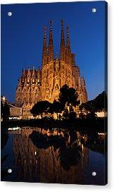 Sagrada Familia Cathedral In Barcelona Acrylic Print