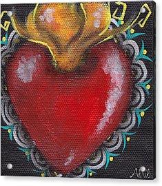 Sagrado Corazon 1 Acrylic Print by  Abril Andrade Griffith