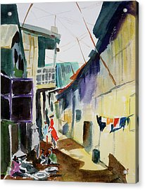 Saigon Alley Acrylic Print by Tom Simmons