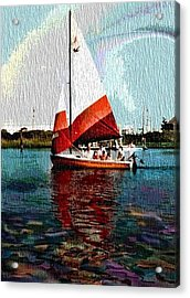 Sail Along On The Sea Acrylic Print