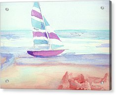 Acrylic Print featuring the painting Sail Away by Denise Fulmer