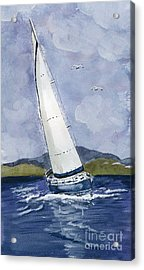 Acrylic Print featuring the painting Sail Away by Eva Ason