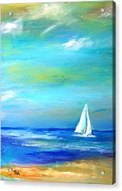 Sail Away In Tropical Waters Acrylic Print