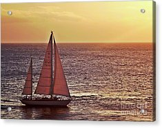 Sail Away Acrylic Print by Maria Arango