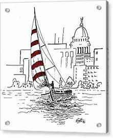 Sail Away Acrylic Print by Marilyn Smith