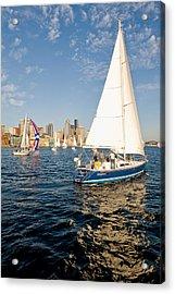 Sail Away Acrylic Print by Tom Dowd