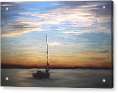 Acrylic Print featuring the painting Sail Away by Wayne Pascall