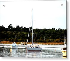 Sail Boat At Anchor  Acrylic Print