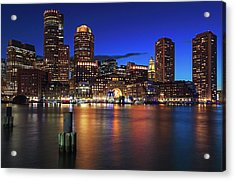 Acrylic Print featuring the photograph Sail Boston Tall Ships Europa And Atyla by Juergen Roth