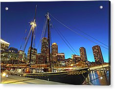 Acrylic Print featuring the photograph Sail Boston Tall Ships by Juergen Roth