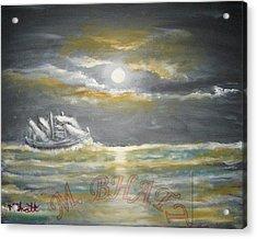 Sail In Moonlight Acrylic Print by M Bhatt