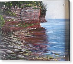 Acrylic Print featuring the painting Sail Into The Light by Jan Byington