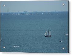 Sail On Michigan Acrylic Print by Gregory Jeffries