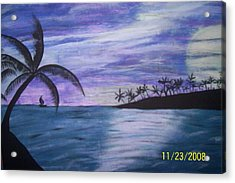 Sail On Acrylic Print by Paula Ferguson