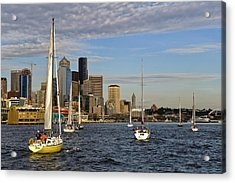 Sail Seattle Acrylic Print by Tom Dowd