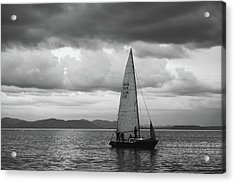 Sail Under Stormy Clouds Acrylic Print