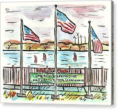 Sailboard Beach Acrylic Print by Matt Gaudian