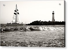 Sailboat And Lighthouse 2 Acrylic Print