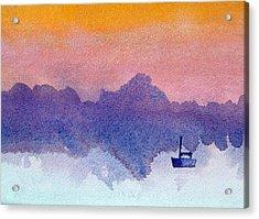 Sailboat At Dawn Acrylic Print