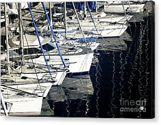 Sailboat Bow Acrylic Print by John Rizzuto