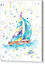 Sailboat By Jan Marvin Acrylic Print