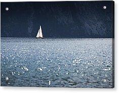 Sailboat Acrylic Print by Chevy Fleet