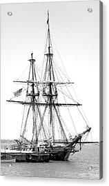 Sailboat Docked In Cleveland Harbor Acrylic Print