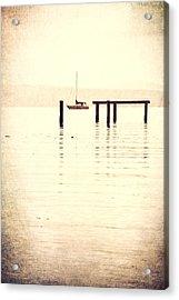 Sailboat Grunge Acrylic Print