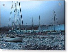 Sailboat Harbor Acrylic Print by Karol Livote