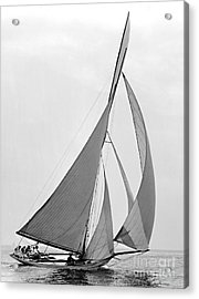 Sailboat Hawk 1891 Acrylic Print by Padre Art
