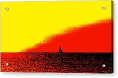Sailboat Horizon Poster Acrylic Print