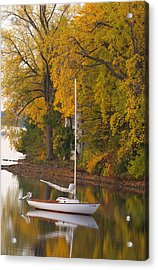 Sailboat In Alburg Vermont  Acrylic Print by George Robinson