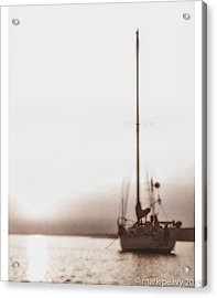 Sailboat In Fog Acrylic Print