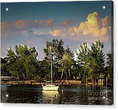 Sailboat In The Bay Acrylic Print