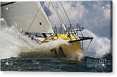 Sailboat Le Pingouin Open 60 Charging  Acrylic Print
