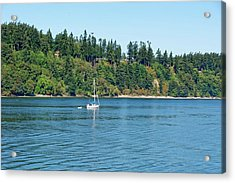 Sailboat Near San Juan Islands Acrylic Print