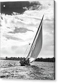 Sailboat Off Shore Acrylic Print
