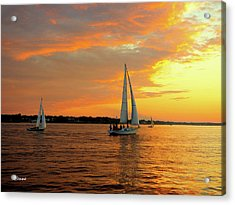 Sailboat Parade Acrylic Print